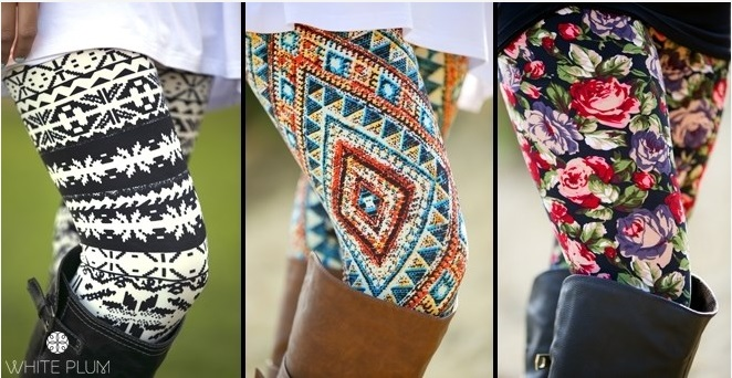 Fashion Printed Leggings and Fleece Lined leggings as low as $6.99 ...