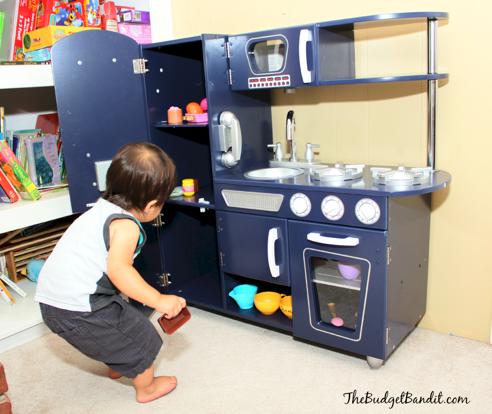 kidkraft vintage navy kitchen review image play grow living chic mom - Kidkraft Vintage Kitchen